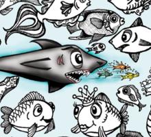 Cartoon Fishies Sticker