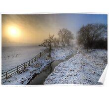 Snowy Landscape Sunrise 2.0 Poster