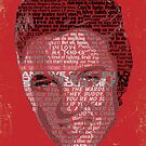 Typographic Icons - Elvis Presley by Ben Rhys-Lewis