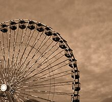 Dusk Descends on the Ferris Wheel by Brian Gaynor
