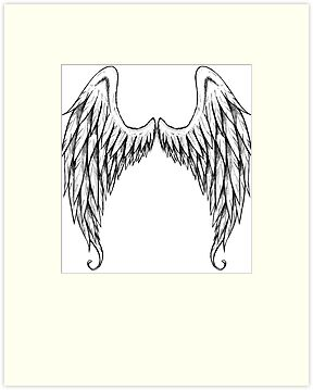 Angel Wings Hoodie by Bradsite