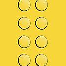 Lego Brick iPhone Case (yellow) by PEZRULEZ