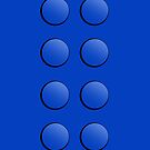 Lego Brick iPhone Case (blue) by PEZRULEZ