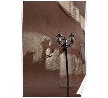 Alleyway Lamp Post Poster