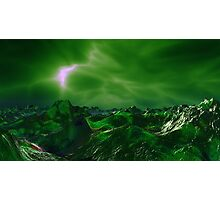 Green Storm Rising Photographic Print