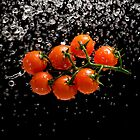 Cherry Tomato Splash 1 by Andrew Bret Wallis