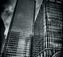 Canada Square Light and Reflections by Alan E Taylor