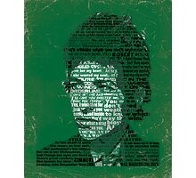 Typographic Icons - Bob Dylan Photographic Print