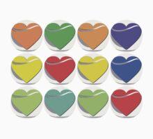 Colorful heart button - Art deco T-shirt Kids Clothes