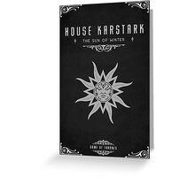 House Karstark Greeting Card