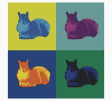 Pop Art Squirrels by ValeriesGallery