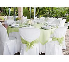 Wedding table Photographic Print