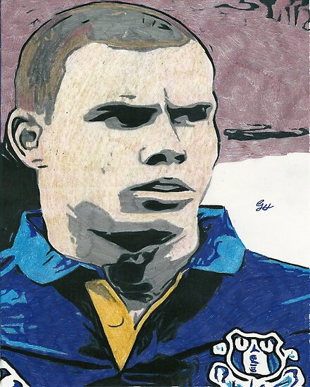 Jack Rodwell Everton Comic Book Artwork by chrisjh2210