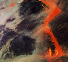 Lava Meeting Ocean by E.E. Jacks