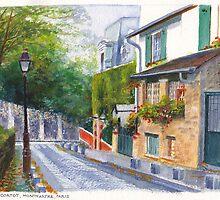 Rue Cortot by Dai Wynn