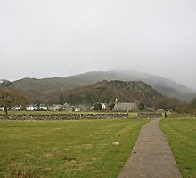 Beddgelert through misty rain. by Grace Johnson