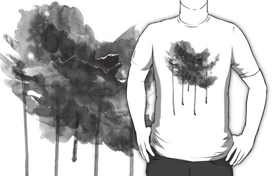 bLACK rAIN T-ShirT by Denis Marsili - DDTK