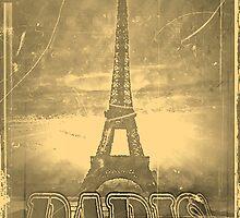 Vintage Eiffel Tower Paris #3 by Nhan Ngo