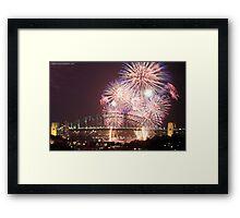 Sydney Harbour Bridge Fireworks, 2011/12 NYE Framed Print