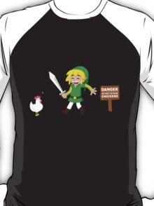 Link and the chickens... T-Shirt