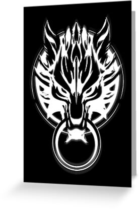 Cloud Strife's Wolf Emblem (White) by Prime-Omega