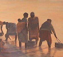 Lake Malawi Women at Sunrise by Nisty