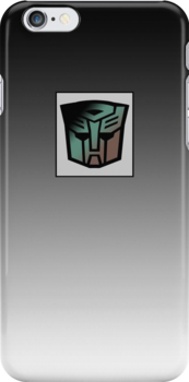 Transformers - Autobot Rubsign iPhone Case (Fade) by deadbunneh _