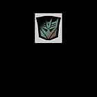 Transformers - Decepticon Rubsign iPhone Case (Black) by deadbunneh _
