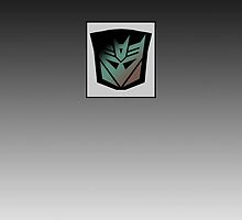 Transformers - Decepticon Rubsign iPhone Case (Fade) by deadbunneh _