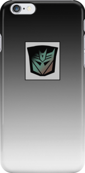 Transformers - Decepticon Rubsign iPhone Case (Fade) by deadbunneh _
