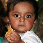 Ecuador: Wide-eyed Child in Quito by Laurel Talabere