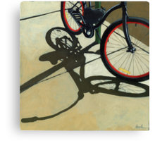 """""""Splash of Red"""" - bicycle oil painting Canvas Print"""