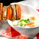 Parsley Root Cream With Sausage Stick by SmoothBreeze7
