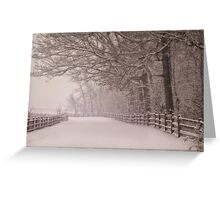 Path into the storm Greeting Card