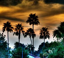 Sunset At The End Of The Street by George Lenz