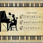 Silhouette Piano Player And Baker by Sandra Foster