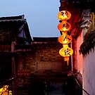 chinese red lantern by offpeaktraveler