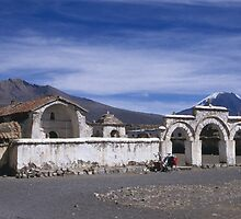 Church square, Lagunas, Bolivia by Syd Winer
