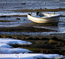 Snow On The Stour Estuary by Darren Burroughs