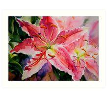Birthday Lilies Art Print