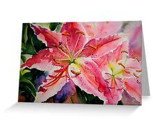 Birthday Lilies Greeting Card