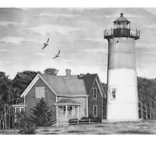 Nauset Beach Lighthouse (Revision) by J.D. Bowman