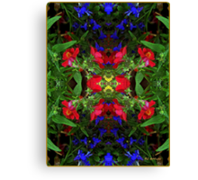 Fidelity - Card VII from The Tarot of Flowers Canvas Print