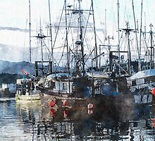 Prince Rupert Marina Watercolour Study by Skye Ryan-Evans
