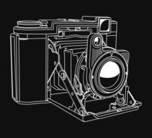 Zeiss Ikonta - White Line Art - No Text by jphphotography