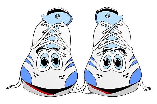 """""""Tennis Shoe Cartoon"""" By Graphxpro"""