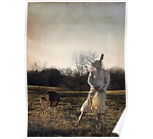 Country Rabbit Poster