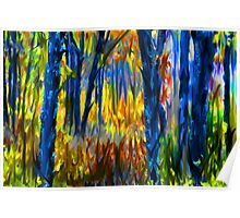 The Finger Painted Forest Poster