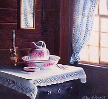 Washstand with pitcher and basin by Dan Wilcox