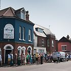 Aldeburgh Chip Shop Queue (Color) by Steve Taylor